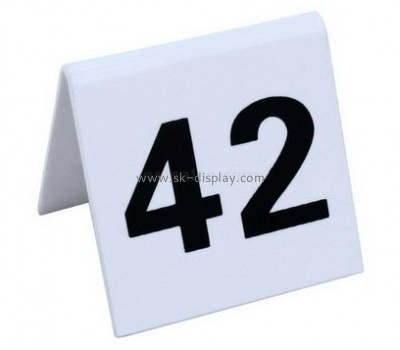 Customize acrylic table number sign BD-512