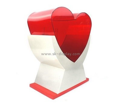 Customize plastic charity collection boxes DBS-779