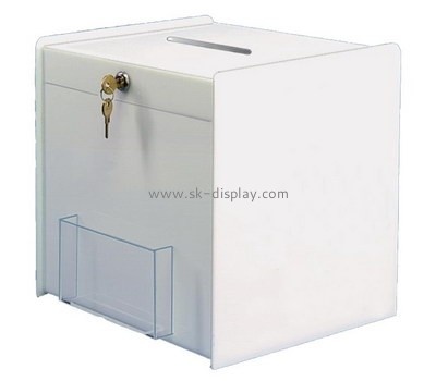 Customize white plastic ballot boxes DBS-781