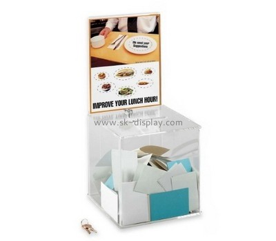 Customize acrylic office suggestion box DBS-785