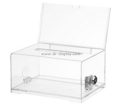 Customize acrylic collection boxes for charity DBS-809