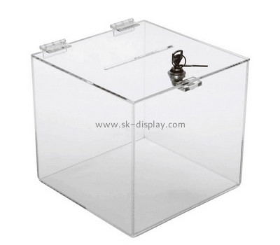 Customize acrylic charity boxes for sale DBS-807