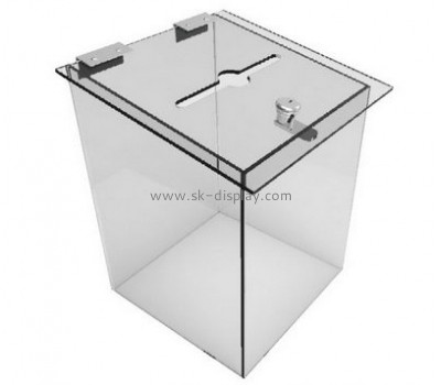 Customize large acrylic ballot box DBS-819