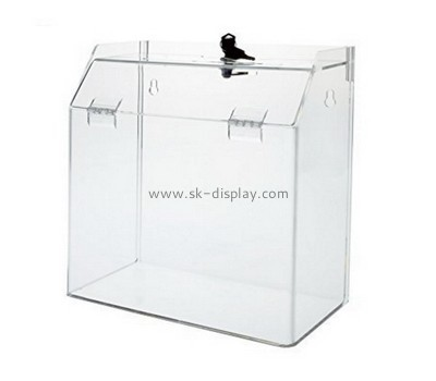 Customize plastic donation boxes with lock DBS-817
