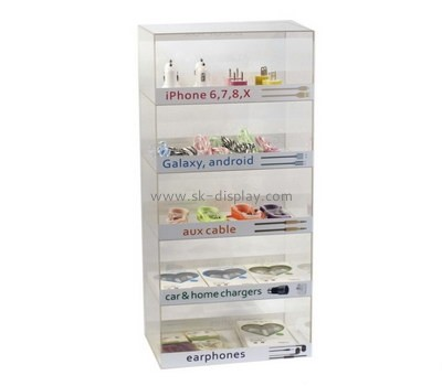 Customize lucite tall thin display cabinet DBS-854
