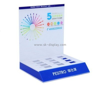 Customize perspex countertop cosmetic display CO-670
