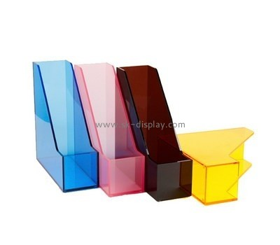 Customize acrylic stand up file holder BD-573