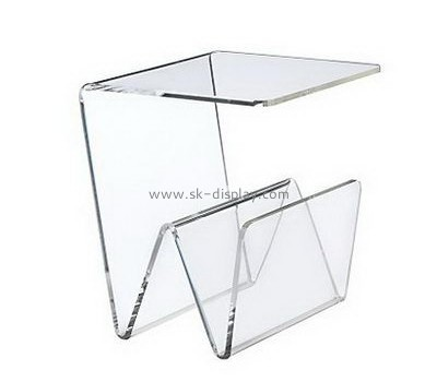 Customize acrylic clear magazine holder BD-585