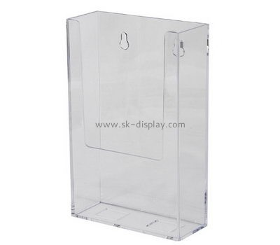 Customize lucite wall mounted magazine holder BD-587