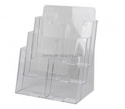 Customize acrylic three tier brochure holder BD-628