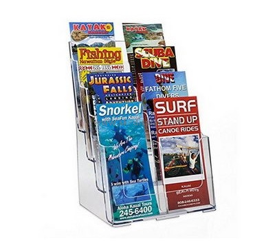 Customize acrylic a6 brochure holder BD-641