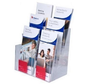 Customize lucite brochure holder stand BD-650