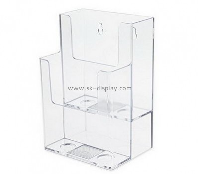 Customize lucite mounted brochure holder BD-654