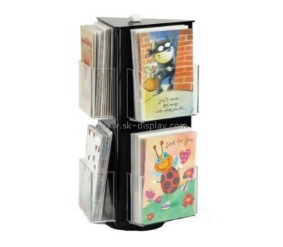 Customize lucite tri fold brochure holder BD-664