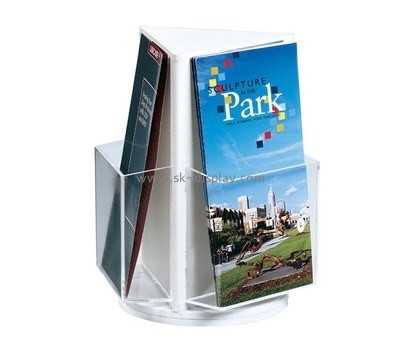 Customize perspex tri fold brochure holder BD-671