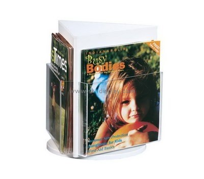 Customize plexiglass tri fold brochure holder BD-684