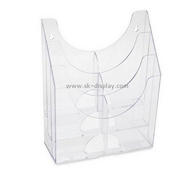 Customize lucite clear magazine holder BD-691