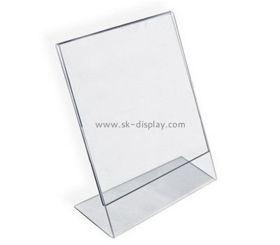 Customize slanted a4 acrylic sign holder BD-725