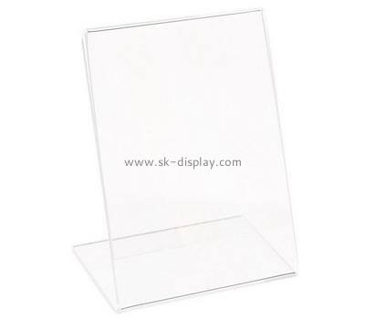 Customize clear acrylic slanted sign holders BD-729