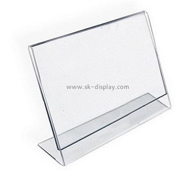 Customize retail plastic sign holders BD-742