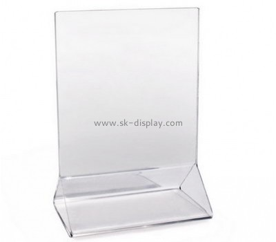 Customize lucite sign holder BD-747