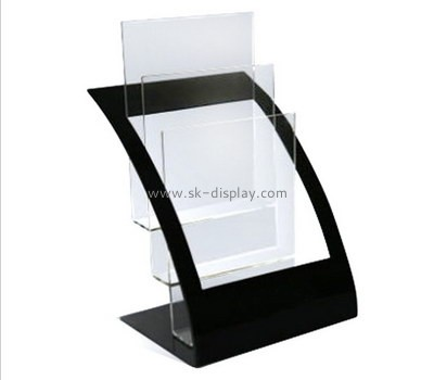 Customize lucite multi pocket brochure holder BD-790
