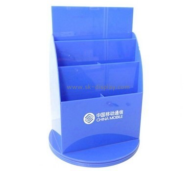 Customize acrylic 6 pocket brochure holder BD-793