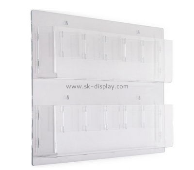 Customize plexiglass mounted brochure holder BD-842