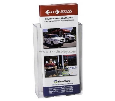 Customize plexiglass modern brochure holder BD-874