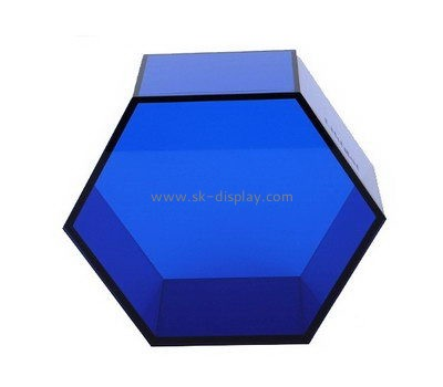 Customize blue plexiglass containers DBS-891