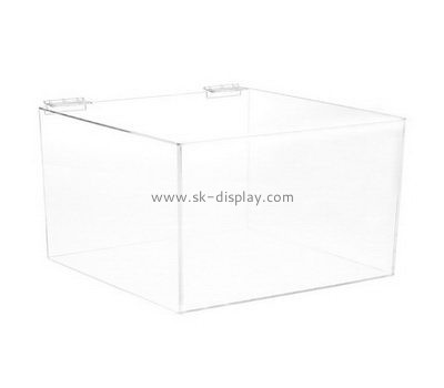 Customize acrylic box with hinged lid DBS-902