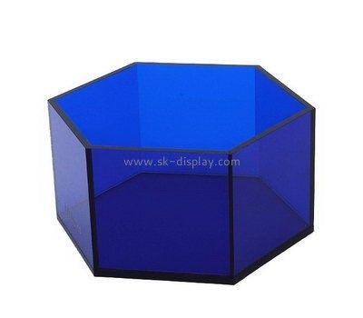 Customize acrylic hexagon shaped box DBS-912