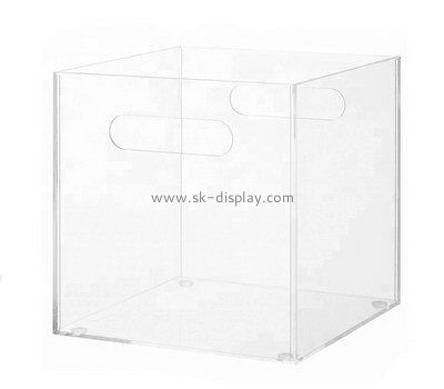 Customize acrylic clear box with handle DBS-962