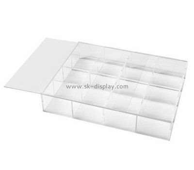 Customize acrylic compartment box with dividers DBS-963