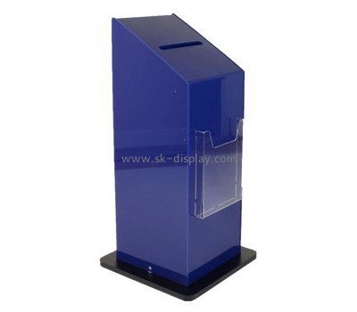 Customize acrylic donation boxes for sale DBS-985