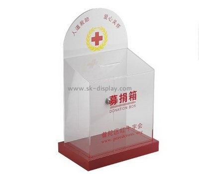 Customize acrylic charity donation boxes DBS-987