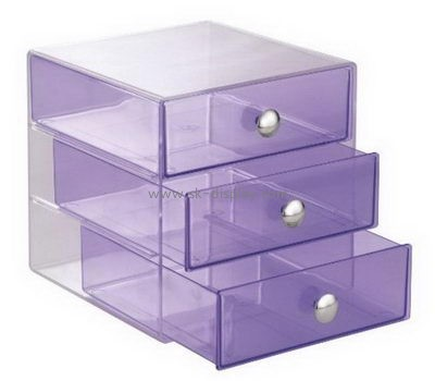 Customize acrylic 3 drawer containers DBS-991