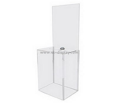 Customize acrylic donation boxes with locks DBS-1001