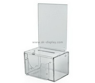 Customize acrylic fundraising collection boxes DBS-1002
