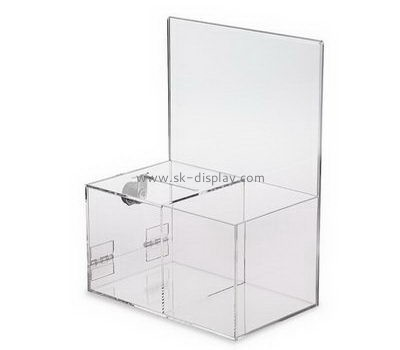 Customize acrylic clear donation box DBS-1000