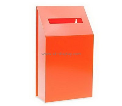 Customize acrylic lockable donation box DBS-1007