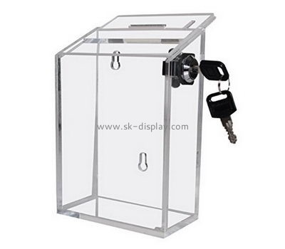 Customize acrylic cheap donation boxes DBS-1005