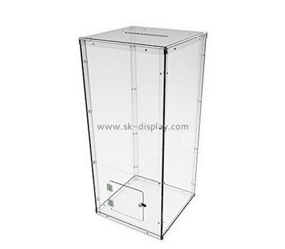 Customize acrylic large donation box DBS-1008