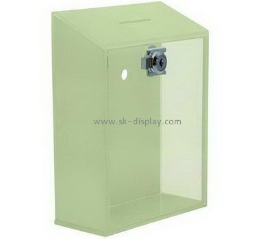 Customize acrylic money donation box DBS-1009