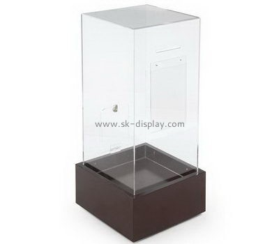 Customize acrylic charity collection boxes for sale DBS-1011