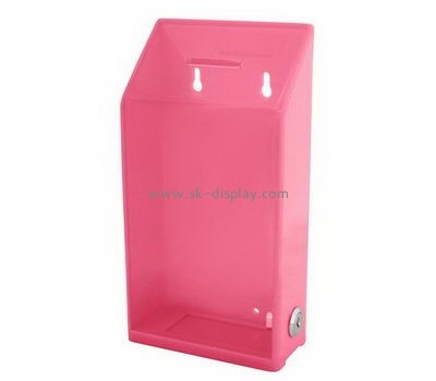 Customize acrylic donation boxes with locks DBS-1015