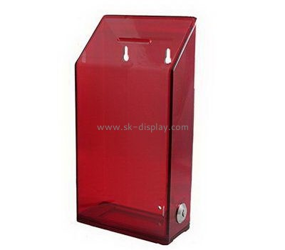 Customize acrylic donation collection box DBS-1019