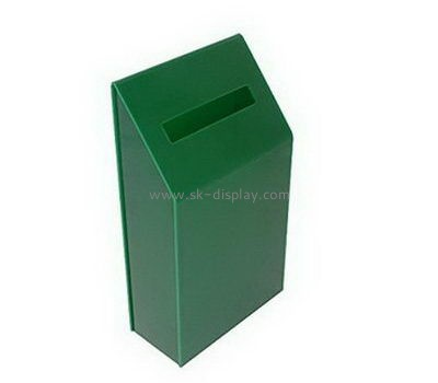 Customize acrylic charity money collection boxes DBS-1018