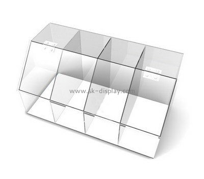 Customize acrylic multi compartment storage box DBS-1027