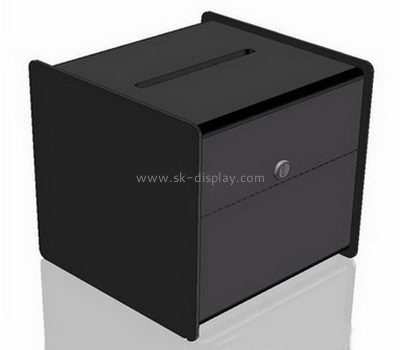 Customize acrylic secure donation box DBS-1031